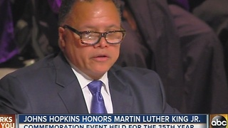 Johns Hopkins holds Martin Luther King Jr. event - Video