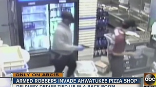 Ahwatukee pizzeria offers reward leading to arrest of pair who robbed the store - Video