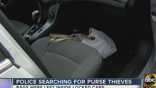 Mesa police looking for purse thieves - Video
