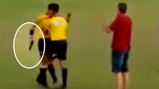 Brazilian Soccer Ref Pulls Out a GUN After Being Punched by a Player - Video