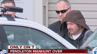 EXCLUSIVE VIDEO: Pendleton manhunt ends; suspect arrested at home - Video