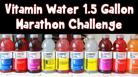 Marathon Challenge: 200 ounces of Vitamin Water (1.5 gallons)