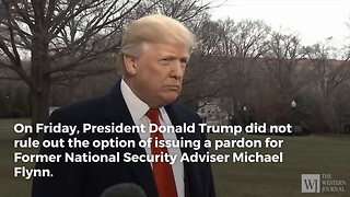 Trump Makes Announcement About Pardon for Mike Flynn - Video