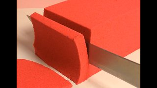 Satisfying compilation of kinetic sand being cut - Video