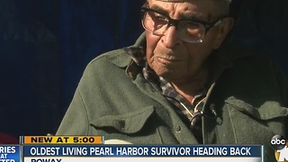 Oldest living Pearl Harbor survivor heading back