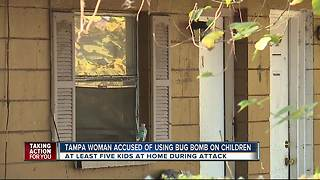 Tampa woman accused of using bug bomb on children - Video