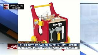 Juratoys recalls toy trolleys due to impact injury hazard - Video