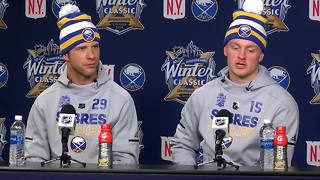12/30 Eichel & Pominville discuss upcoming Winter Classic - Video
