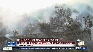Crews make quick work of brush fire off I-15 - Video