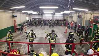 California Firefighters Train By Playing Dodgeball - Video