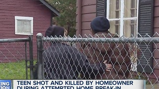 Teen shot and killed during attempted break in - Video