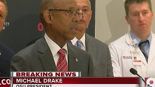 Ohio State president grateful for quick, level-headed response to attack - Video