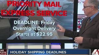 Holiday shipping deadlines - Video