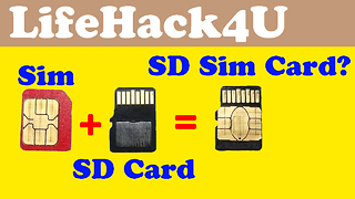 Lifehack Combine Simcard with Sd Card - Video