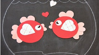 Flamingo Arts  - Easy Crafts for kids -  How to make  a Couple of Goldfish - Video