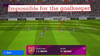 Impossible for the goalkeeper