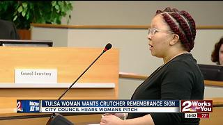 Tulsa woman wants Crutcher remeberance road sign - Video