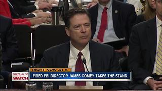 Fired FBI Director James Comey takes the stand - Video