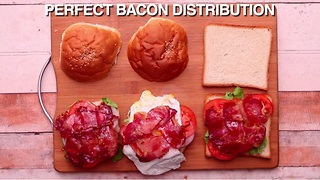 This is how you get bacon in every bite of your sandwich - Video