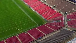 Drone video over Raymond James Stadium for the National Championship - Video