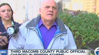 Third Macomb County official arrested and charged with bribery in countywide corruption investigation - Video