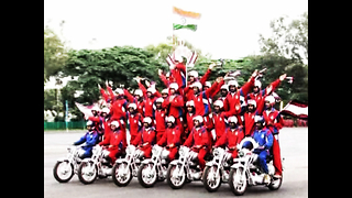 Indian Army Motorbike Display - Video
