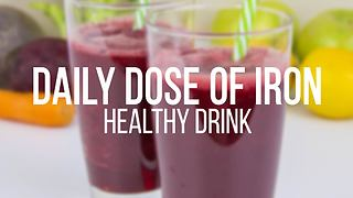 Healthy drink provides daily dose of iron - Video