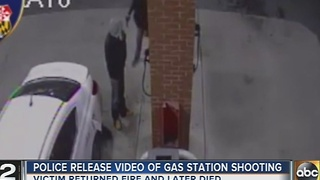 Man shot, killed while pumping gas in Baltimore - Video