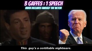 Joe Biden Gaffes 3 Times During His 'Victory' Speech