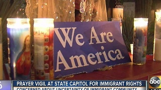 Immigration advocates hold prayer vigil at state Capitol - Video