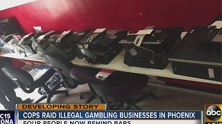 Two illegal gambling businesses busted in Phoenix - Video