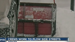 Crews work to plow side streets - Video