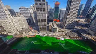 Timelapse Shows Chicago River Turn Green for St Patrick's Day - Video