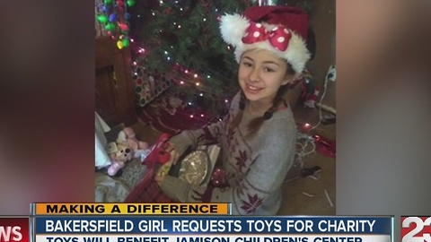 Bakersfield girl donates gifts on birthday