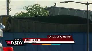 Train derailment in West Allis - Video
