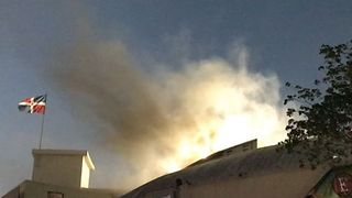 Smoke Spotted Above Santo Domingo Stadium After Fire Cancels Baseball Match - Video