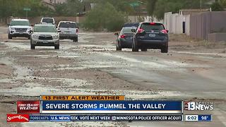 Storm results in messy streets in Las Vegas - Video