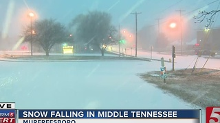 Snow Falling In Murfreesboro - Video