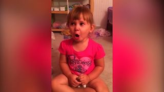 Little Girl Blames Mess On Barbie - Video