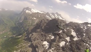 Wingsuit terrain flying in France and Switzerland - Video