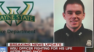 WSU officer fighting for his life after being shot in the head - Video
