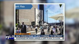 Spirit Plaza shutting down part of Woodward in Detroit - Video