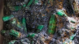 Newly discovered massive emerald kept under heavy armed guard