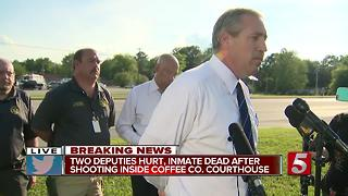 Press Conference: Two Deputies Shot At Coffee Co. Courthouse - Video