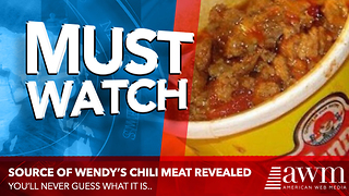 Most Don't Know Where Wendy's Gets The Meat For Their Chili From. Former Employee Explains - Video