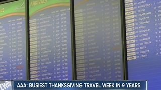 AAA reports this Thanksgiving holiday may be busiest in 10 years - Video
