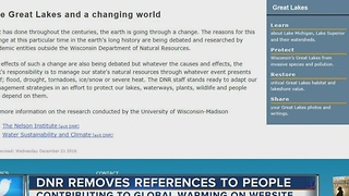 DNR removes wording saying humans cause climate change - Video