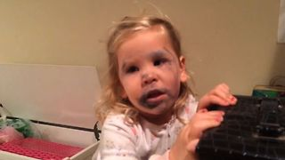 Little Girl's Make Up Mess - Video
