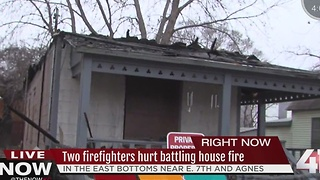 Two KC firefighters hospitalized after house fire - Video