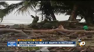 Drone pilot to help St. Maarten in recovery - Video